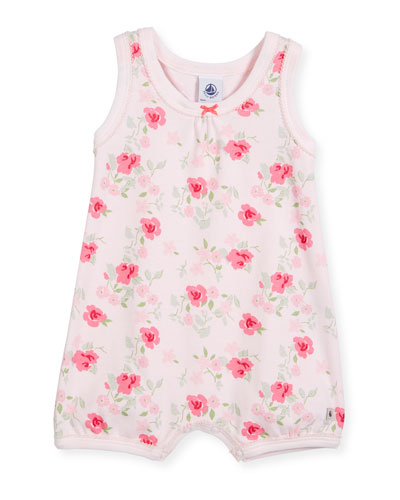 Sleeveless Floral-Print Playsuit, Size Newborn-6 Months