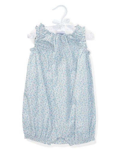 Poplin Floral Bubble Playsuit, Size 3-18 Months