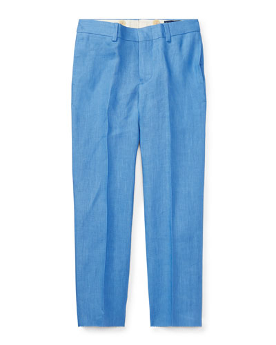 Woodsman Pleated Pants, Blue, Size 2-3