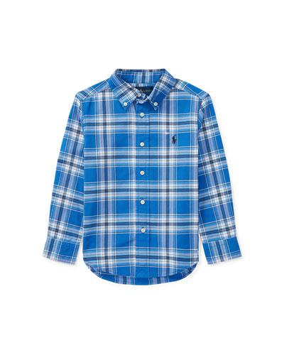 Oxford Performance Button-Down Shirt, Size 2-4