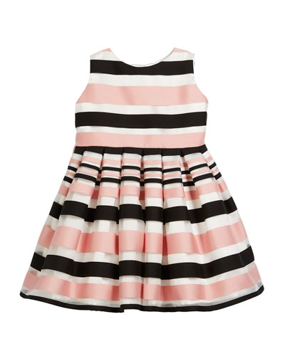 Satin Stripe Dress, Size 2-6