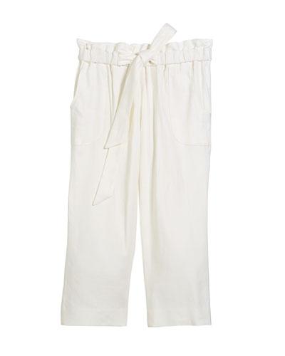 Kori Linen-Stretch Crepe Pant, Size 8-14