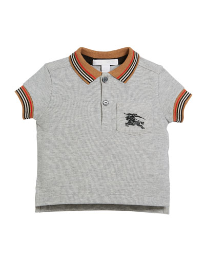 7c45c3db31 Noel Striped-Trim Logo Pocket Polo