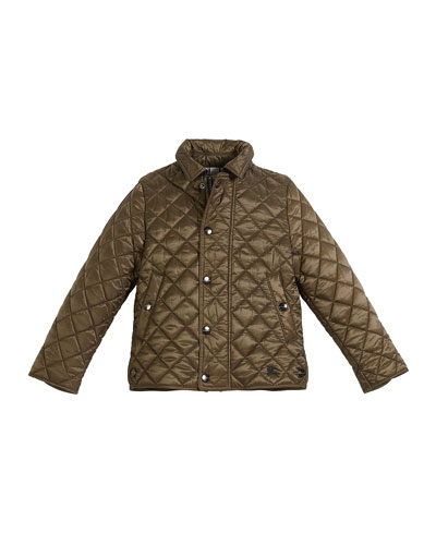 Lyle Quilted Snap Jacket, Size 4-14