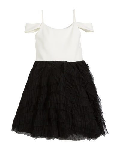 place girls bubble skirt with embroidery cream//gray//black //gray 4-14.