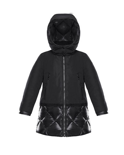 Sibylle Quilted-Hem Hooded Jacket 06fa7f19055