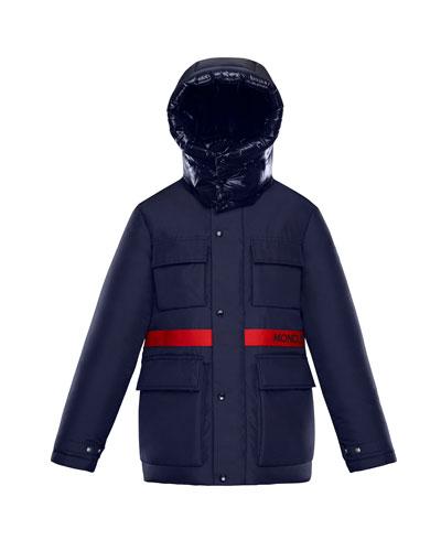 Perpignan Mixed-Material Hooded Jacket, 4-6