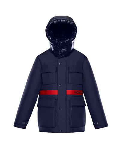 Perpignan Mixed-Material Hooded Jacket, 8-14