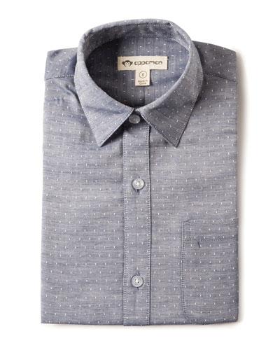 Appaman Standard Squares Long-Sleeve Shirt, Size 2-10