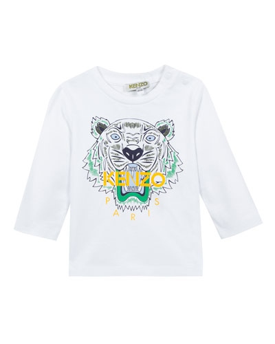 Kenzo Long-Sleeve Tiger Icon Tee, Size 12-18 Months