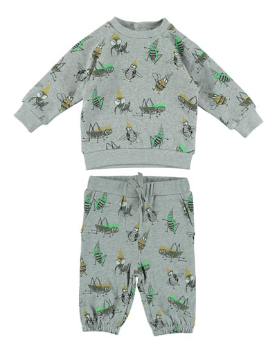 Stella McCartney Kids Cartoon Bug-Print Sweatshirt w/ Matching
