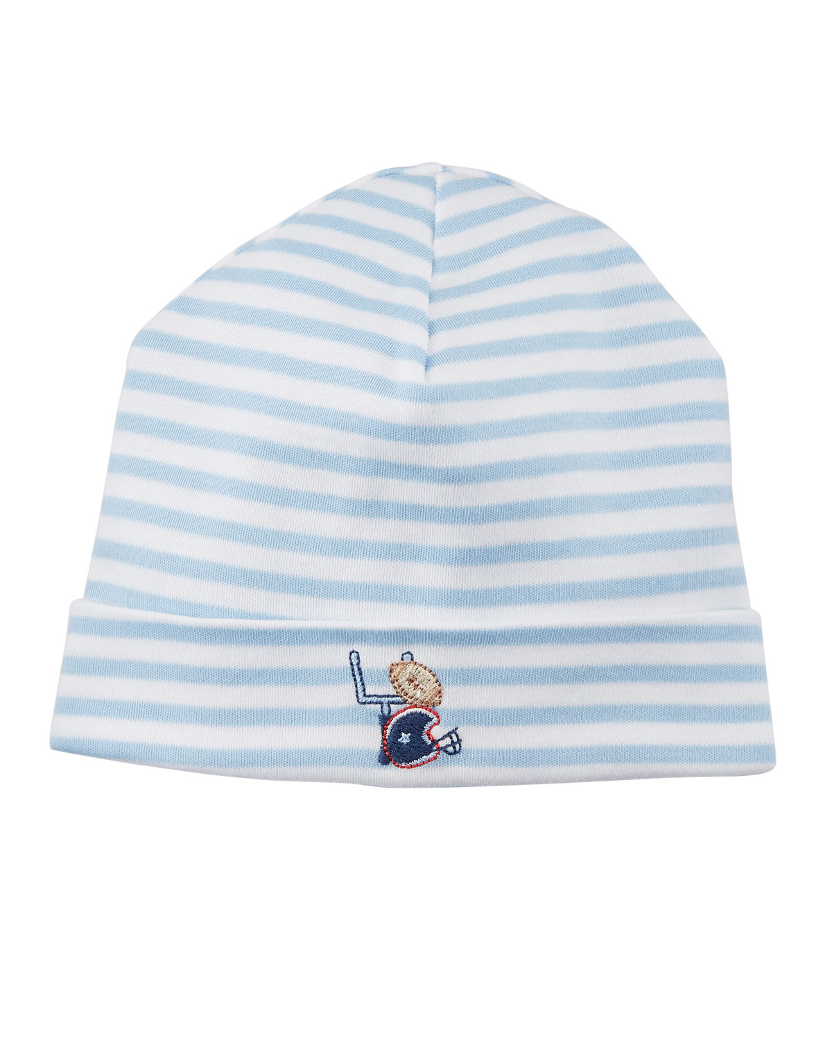 Fall Sports Striped Baby Hat