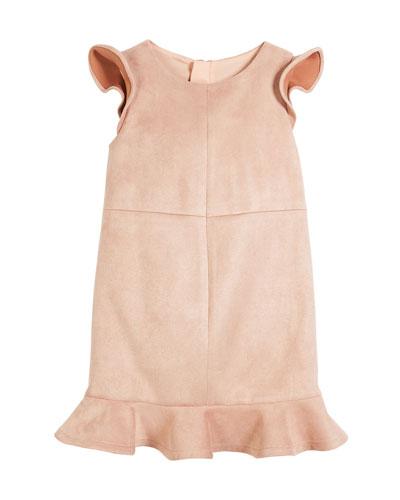 Paneled Stretch Sueded Dress, Size 4-7