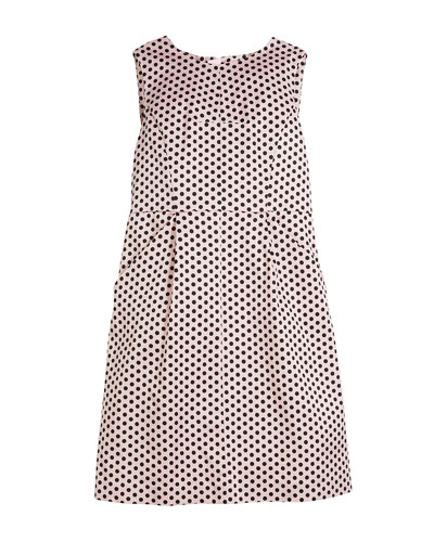 Polka-Dot Sleeveless Dress, Size 8-16