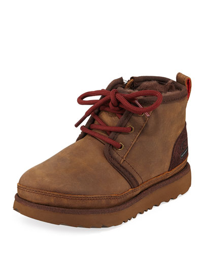 Neumel II Waterproof Lace-Up Boots, Toddler