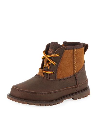 Bradley Suede & Leather Waterproof Boots, Kids