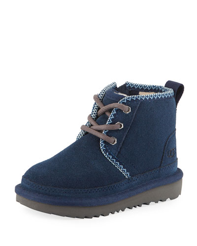 Neumel II Suede Lace-Up Boots, Kids