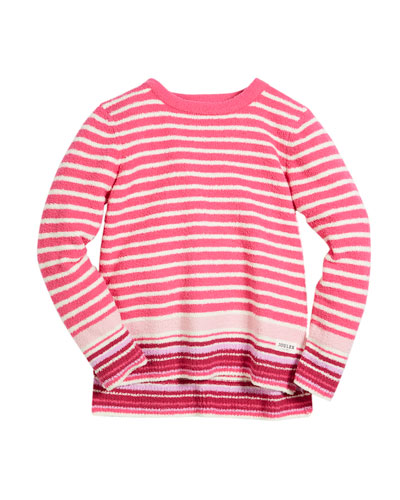 Striped High-Low Sweater, Size 3-10