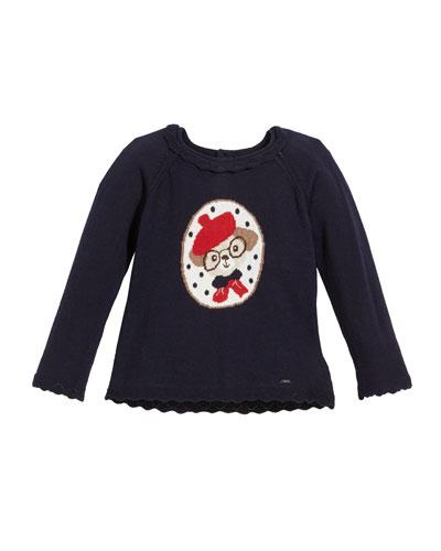 Doggie Intarsia Sweater, Size 12-36 Months