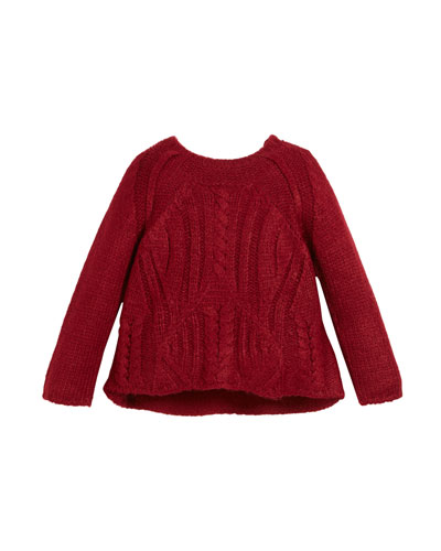 Chunky Cable-Knit Sweater, Size 3-7