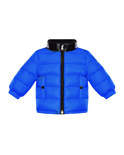 Clans Quilted Jacket w/ Contrast Stand Collar, Size 12M-3