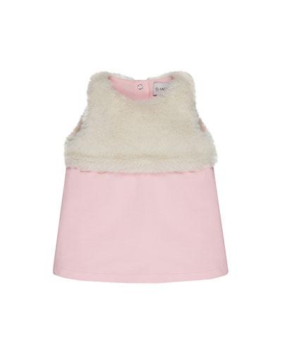 Sleeveless Knit Dress w/ Faux Fur Upper, Size 12M-3