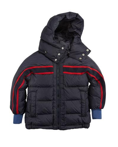 c3341642554 Richard Striped-Trim Quilted Jacket