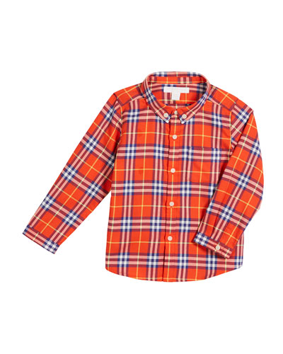 Fred Check Button-Down Shirt, Size 12M-3 Quick Look. Burberry 7a0e0950c0a