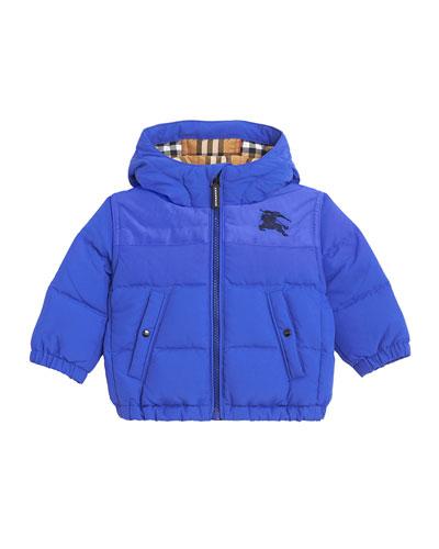 Ezra Hooded Puffer Coat, Size 12M-3