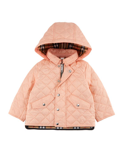 Ilana Quilted Hooded Coat, Size 12M-3