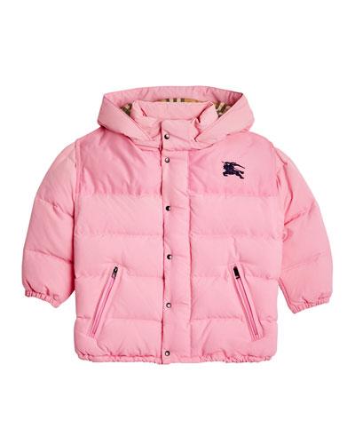 Ezra Hooded Puffer Coat, Size 4-14