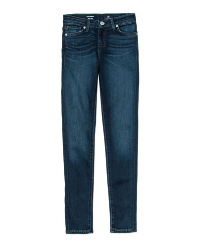 Girls' Twiggy Imperial Blue Jetsetter Straight-Leg Denim Jeans, Size 4-6X