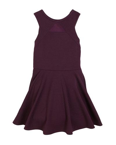 Sally Miller Justine Mesh-Insert Sleeveless Dress, Size S-XL