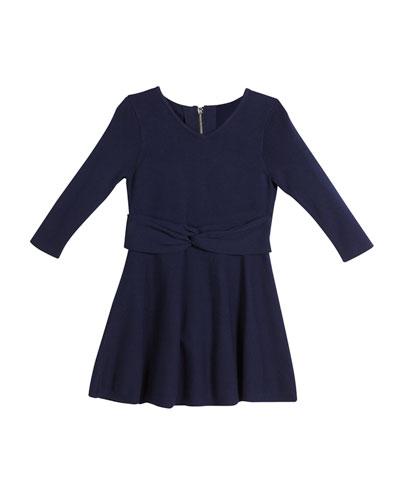 Twist Flare Dress, Size 8-14