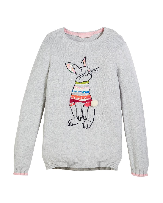 Meryl Sequin Bunny Sweater, Size 3-12