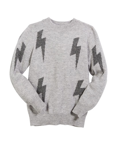 Gemma Lightning Bolt Sweater, Size 6-14