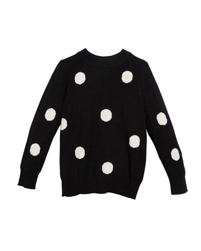 Gemma Polka-Dot Sweater, Size 6-14