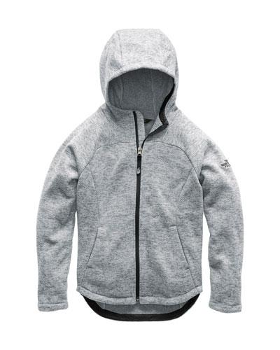 The North Face Indi Heathered Fleece Hooded Jacket,