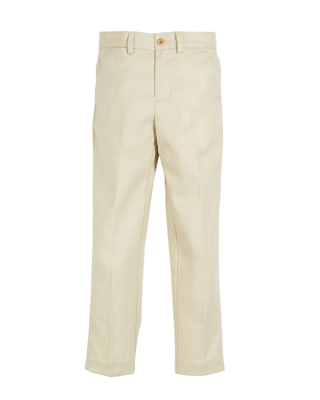 RALPH LAUREN CHILDRENSWEAR Twill Skinny Pants, Size 5-7 in Sand