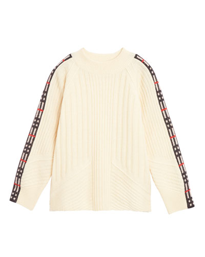 bdf9a909c2a9 Cathie Knit Sweater w  Check Down Sleeves