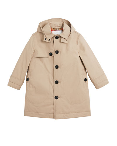 Bradley Hooded Trench Coat, Size 3-14