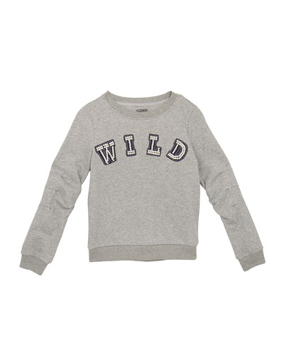Mabel Beaded Wild Sweatshirt, Size S-XL