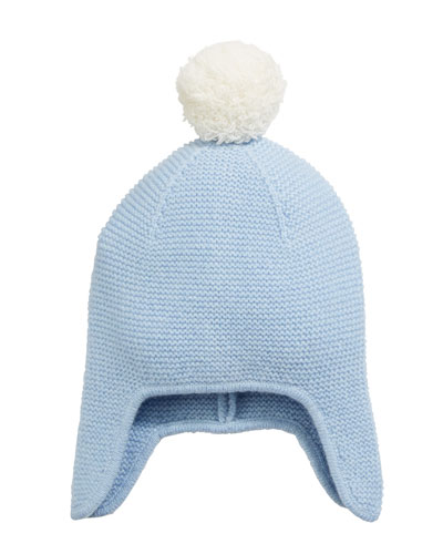Texture Knit Cashmere Baby Trapper Hat