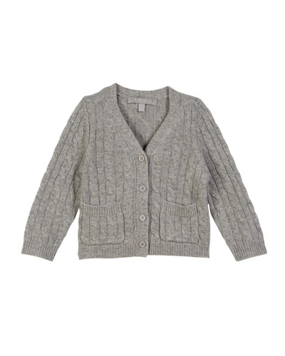 Cable-Knit Cashmere Cardigan, Size 2-6