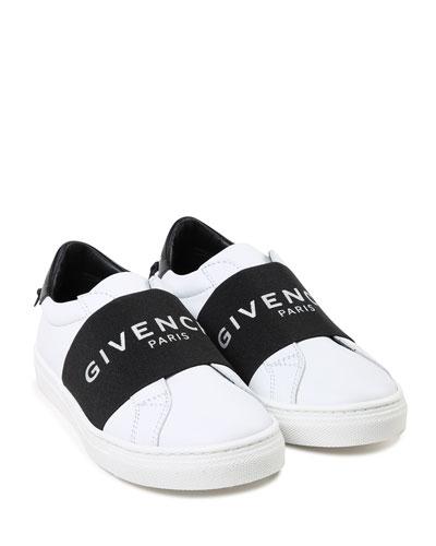 Two-Tone Logo Band Sneakers, Kids