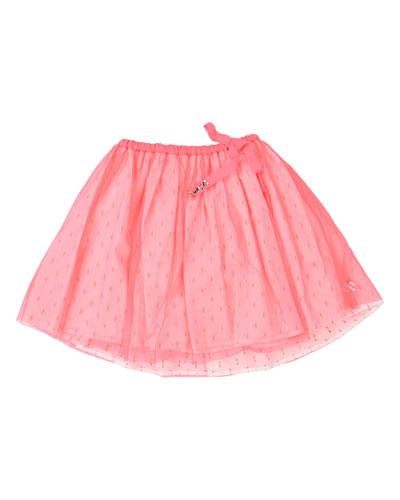 Printed Underlay Tulle Skirt, Size 4-12