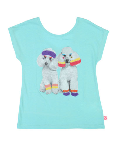 Workout Poodles Graphic Tee, Size 4-12
