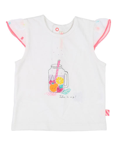 Fruit Drink Graphic Cap-Sleeve Tee, Size 12M-3