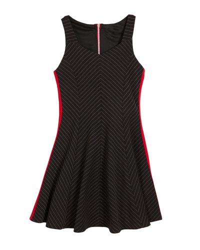 The Jenny Striped Sleeveless Dress, Size S-XL