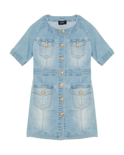 20638f5fca7 Mila Button-Front Denim Dress